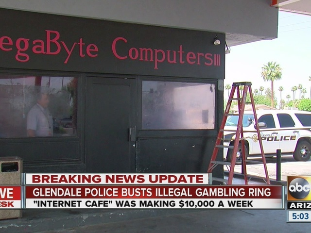 Glendale cafe owners locked up, accused of illegal gambling ring