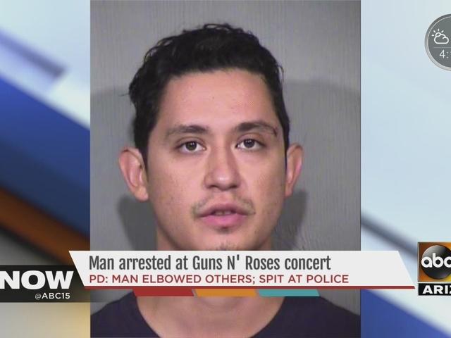 Man arrested after Guns N' Roses concert in Phoenix