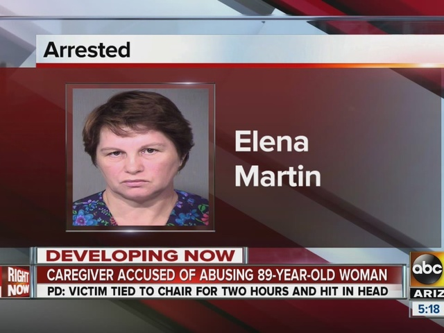 PD: Elderly woman bound, slapped by caregiver