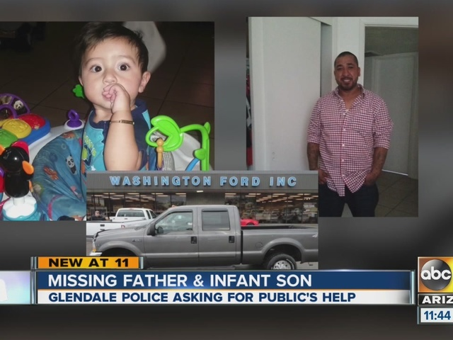 Man, infant son reported missing from Glendale