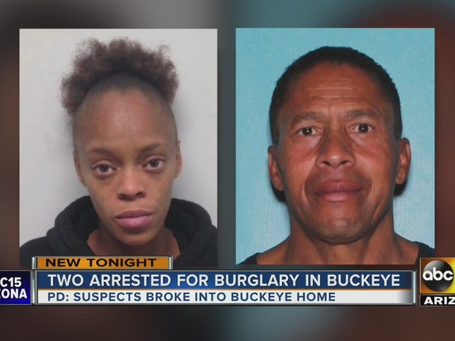 2 people arrested for burglary charges in Buckeye
