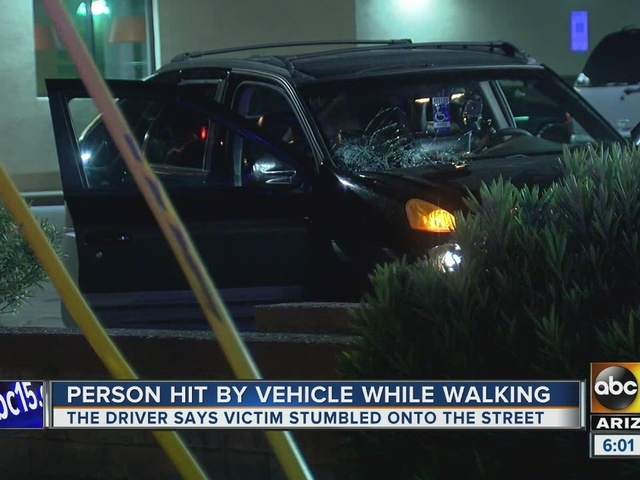 Man in serious condition after hit by car in Phoenix
