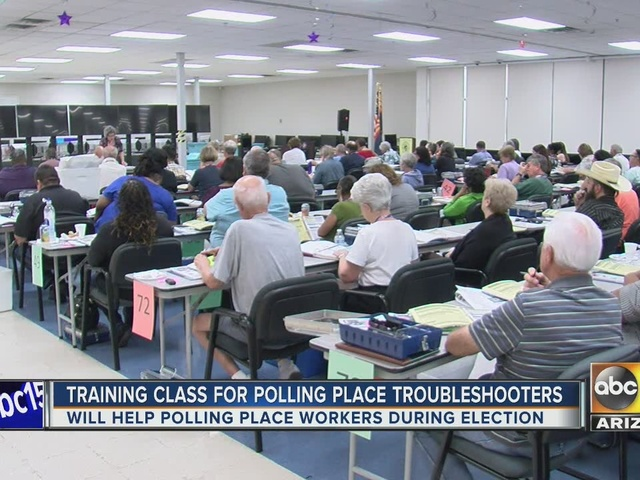 Maricopa County trains troubleshooters for Election Day