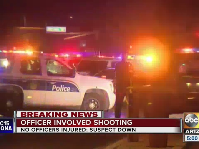Phoenix police shot a suspect near 57th Ave and Thomas Rd early Saturday morning
