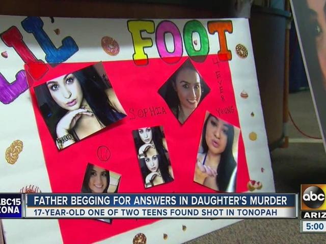 Father seeking answers in murder of teenage daughter in Tonopah