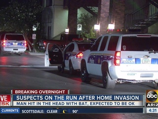 Man hit in head with bat during home invasion