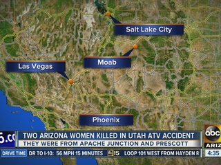 Two AZ women killed in ATV crash in Utah