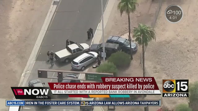 Police Pursuit In Tempe Ends In Fatal Shooting On Live TV