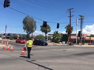 MCSO: Woman in hospital after running red light