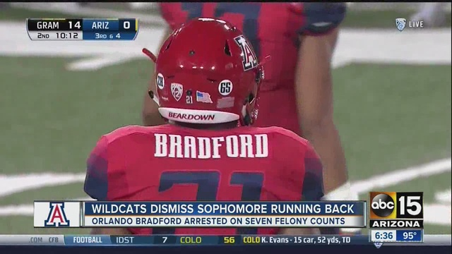 Arizona Wildcats dismiss running back Orlando Bradford following arrest