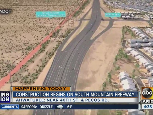 Initial work begins Monday on South Mountain Freeway