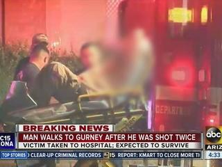 Man shot twice in W. PHX neighbor dispute