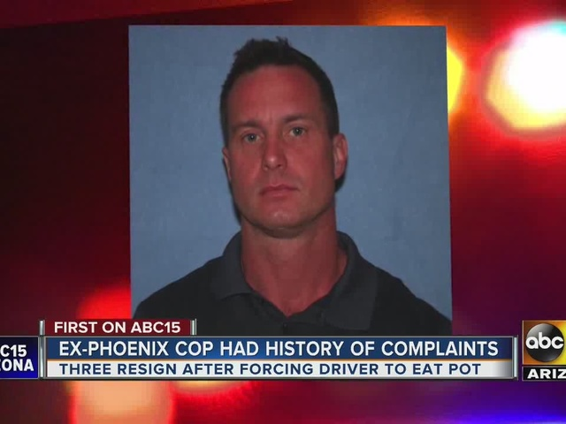Ex-Phoenix cop had history of complaints before forcing suspect to eat marijuana