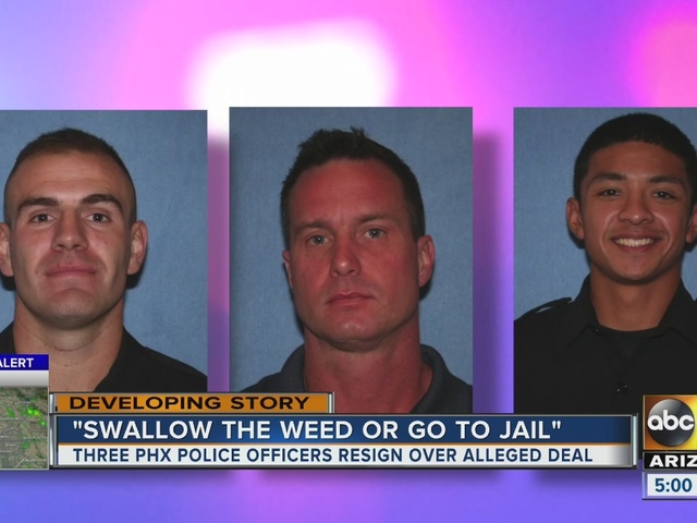 Three officers resign, one demoted after man says Phoenix police forced…