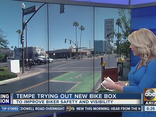 Tempe trying out new bike box to improve safety
