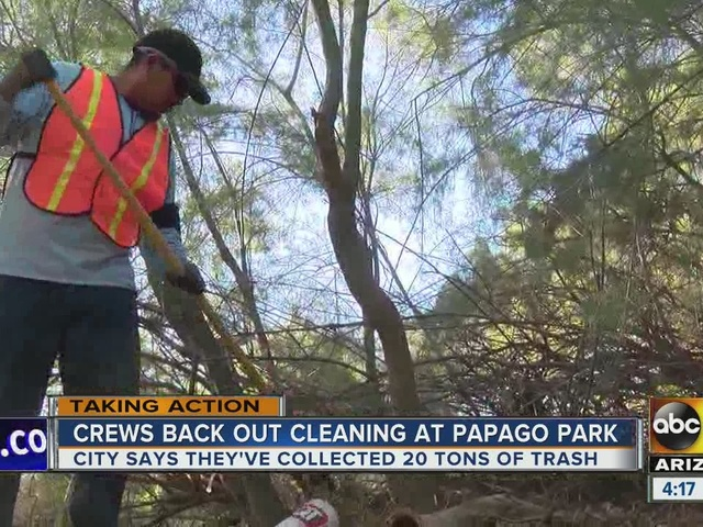 City of Tempe working on cleaning up park