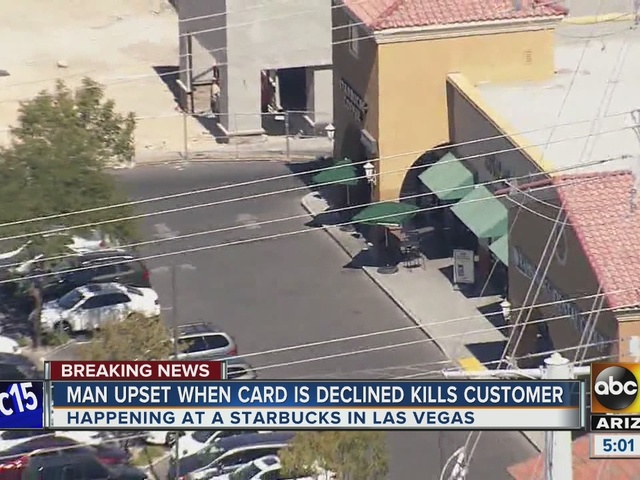 Man kills person at Las Vegas Starbucks after credit card declines