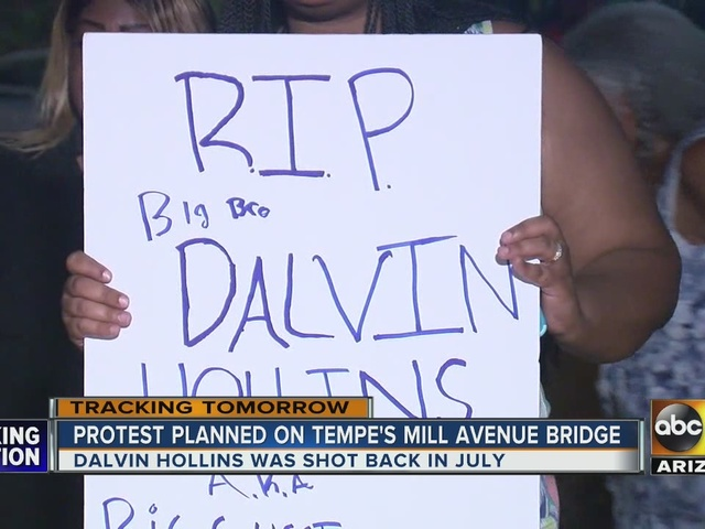 Protest planned at Tempe Mill Ave. Bridge for Dalvin Hollins