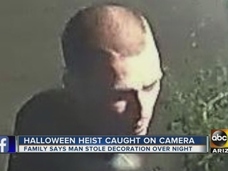 Man accused of stealing Halloween decorations