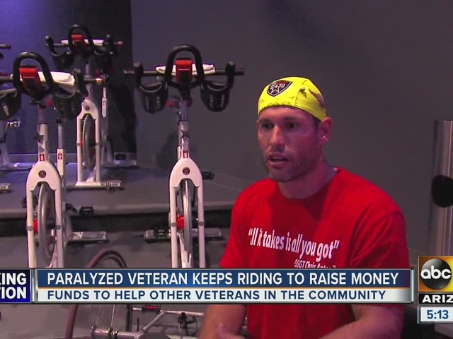 War hero riding to raise money