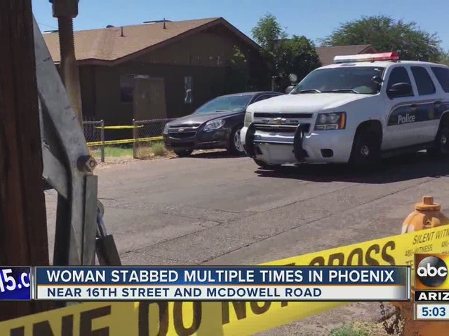 Woman hospitalized after being stabbed in Phoenix