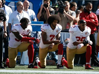 Kaepernick, others demonstrate during anthem