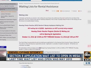 City of Mesa pushes back section 8 applications