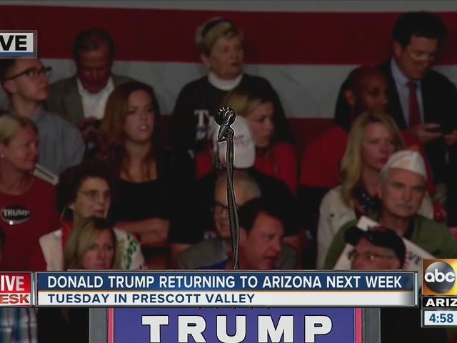 Donald Trump coming to Arizona