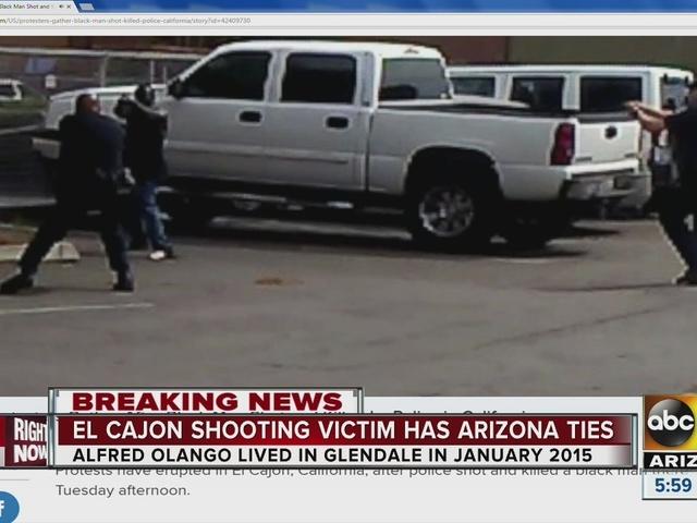 El Cajon shooting victim has Arizona ties