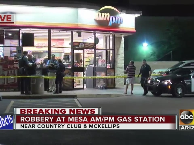 Mesa police investigating robbery at AM/PM gas station