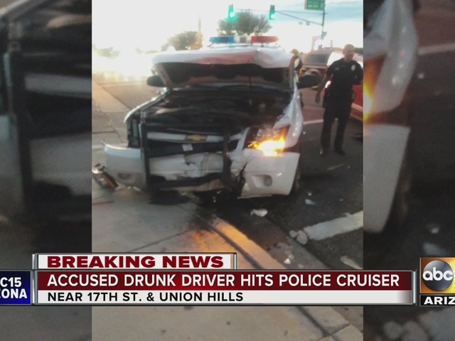 Police: Impairment suspected of driver involved in crash with Phoenix police car