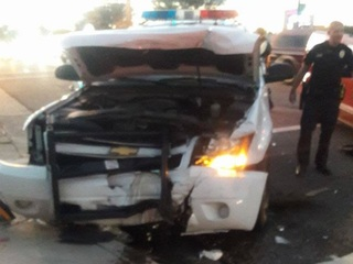 PD:Driver, suspected of DUI, hits PHX patrol car