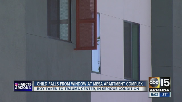 Fd toddler falls 20 feet from mesa apartment complex for 2 year old falls out of window