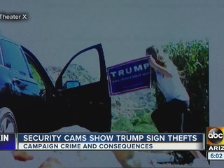 VIDEO: Brazen thieves take Valley campaign signs