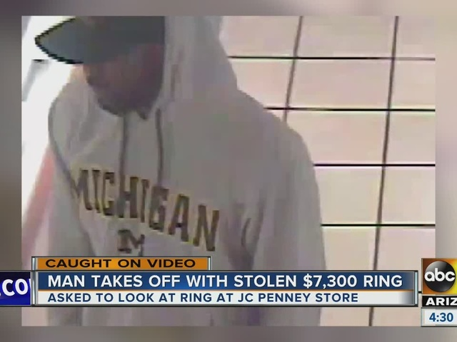 Police searching for man who stole $7K ring from department store