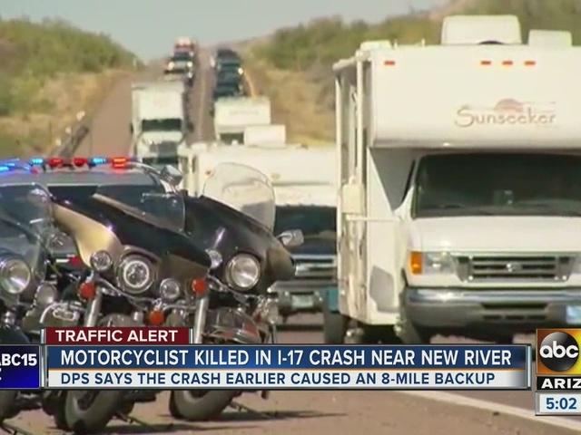 Motorcyclist killed on I-17