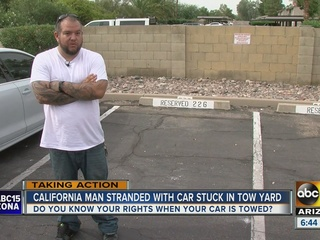 Man's car towed from Mesa apt.; business closed