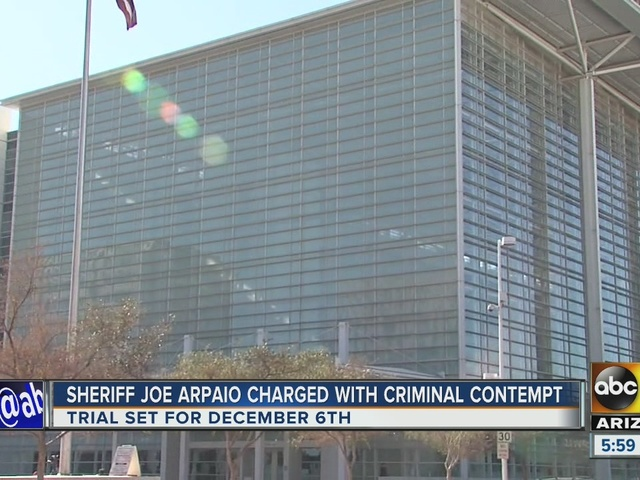 Sheriff Arpaio charged with criminal contempt, opponents celebrate
