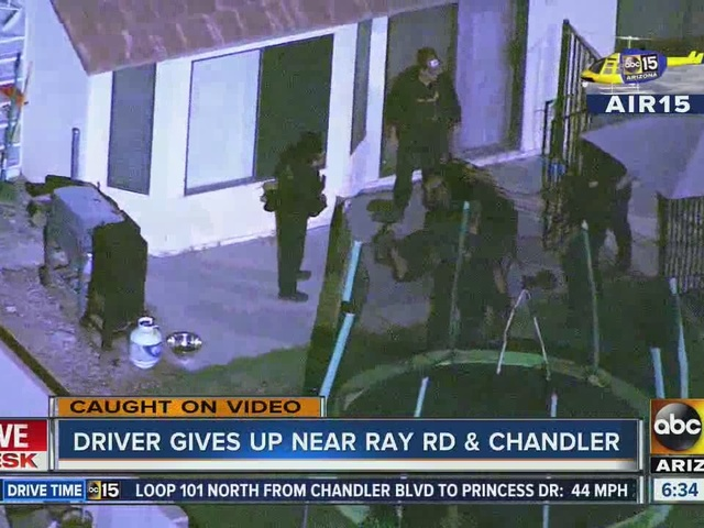 Driver arrested after stopping at In-N-Out during pursuit