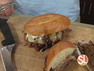 The brisket sandwich is the Veterans Day special
