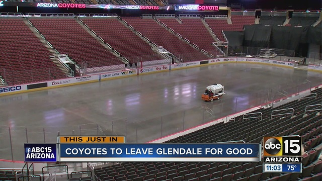 Arizona Coyotes Leaving Glendale, Moving To ASU Tempe Campus