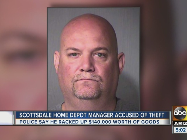 Pd Home Depot Manager Arrested For Taking 140k In Products From