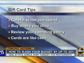Consider gift cards to slash what you spend