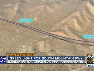 US court refuses to block South Mtn. Freeway
