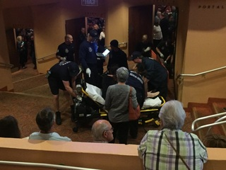4 hurt after person falls off Gammage balcony