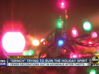 Thieves steal Xmas decorations from neighborhood