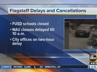 LIST: Flagstaff school and office closings