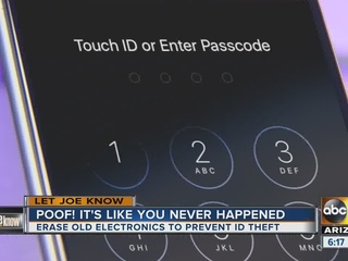 Prevent ID theft by 'cleaning' tablets, phones