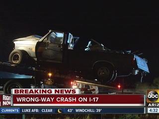 3 injured in wrong way crash on I-17