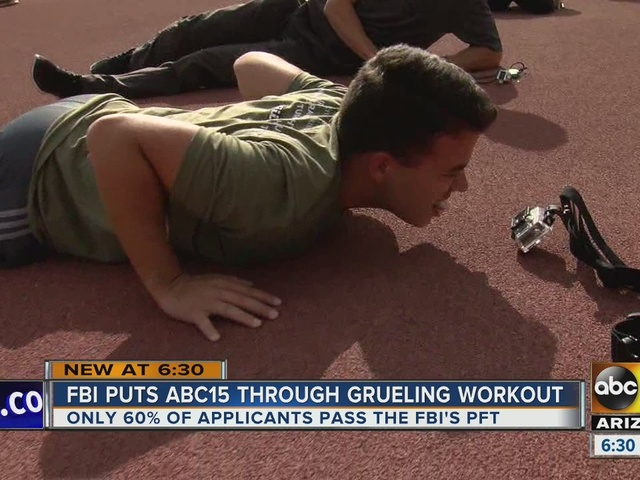 FBI puts ABC15's Chris Gros through its physical fitness test